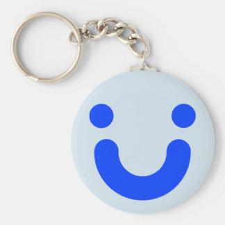 Happy blue keychain