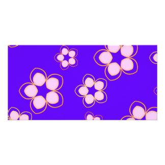 Happy Blue Lotus Flowers Card