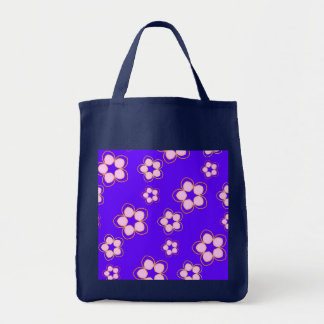 Happy Blue Lotus Flowers Tote Bag