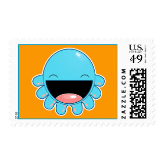 Happy Blue Otopus Postage Stamps