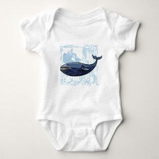 Happy Blue Whale Baby Bodysuit
