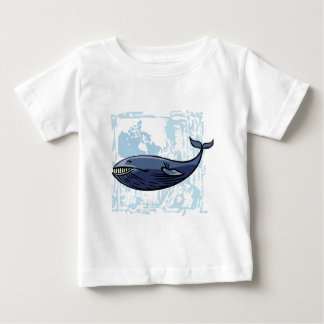 Happy Blue Whale Baby T-Shirt