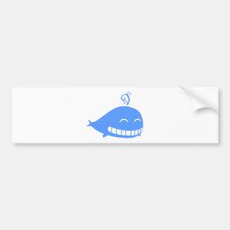 Happy Blue Whale Bumper Sticker