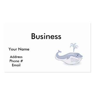 happy blue whale Double-Sided standard business cards (Pack of 100)