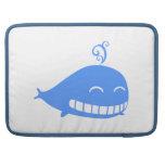 Happy Blue Whale MacBook Pro Sleeves