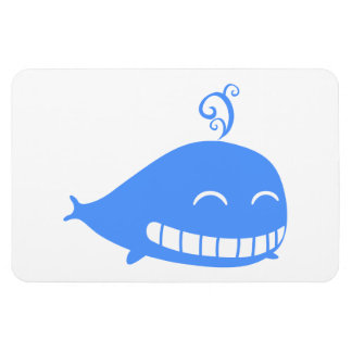 Happy Blue Whale Magnet