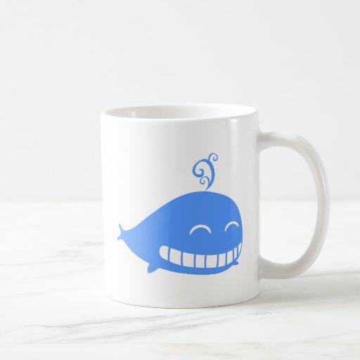 Happy Blue Whale Mugs