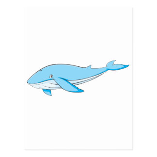 Happy Blue Whale Postcard