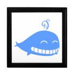 Happy Blue Whale Trinket Box