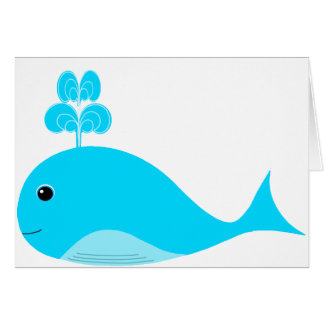 Happy Blue What Card