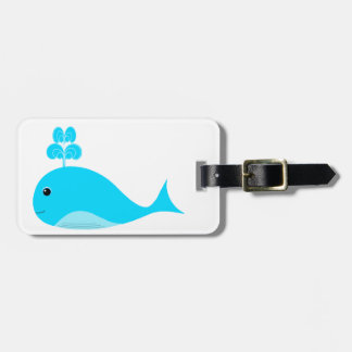 Happy Blue What Luggage Tag