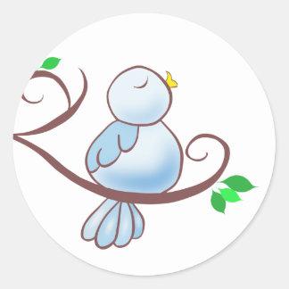 Happy Bluebird Classic Round Sticker
