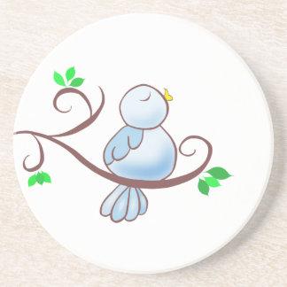 Happy Bluebird Beverage Coasters