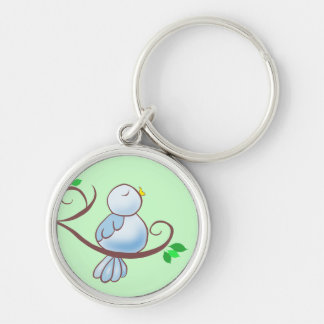 Happy Bluebird Keychain