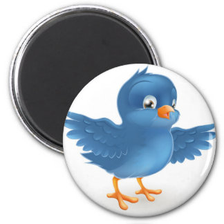 Happy bluebird magnet
