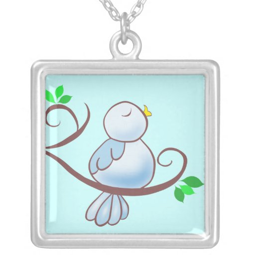 Happy Bluebird Custom Necklace