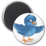 Happy bluebird refrigerator magnet