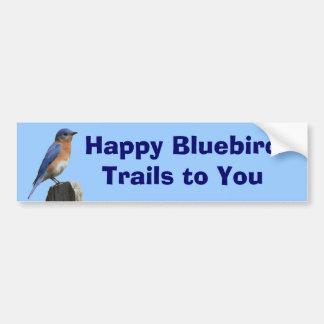 Happy Bluebird Trails Bumper Sticker