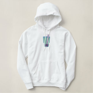 Happy Boba Tea Bubbles Embroidered Hoodie