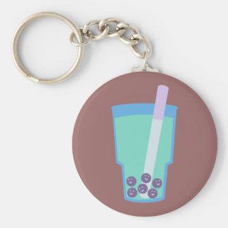 Happy Boba Tea Bubbles Keychain