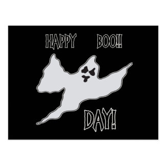 Happy Boo Day Ghost Post Card