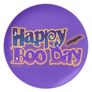 Happy Boo Day Halloween Plate