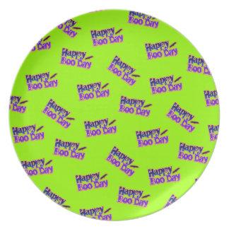 Happy Boo Days Halloween Plate