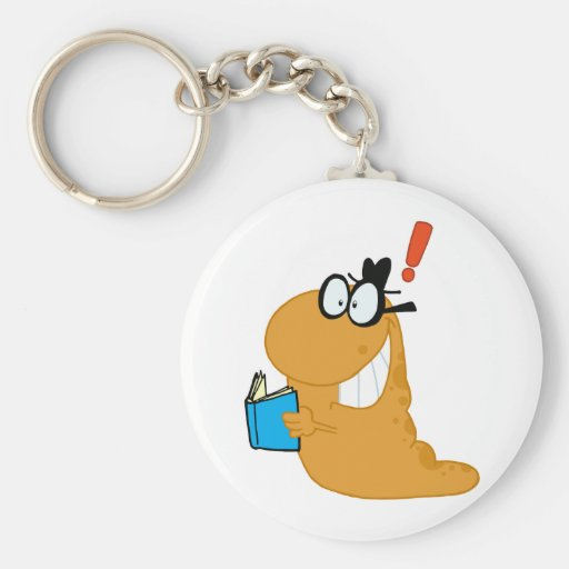 Happy-Bookworm-by-an-idea Keychains
