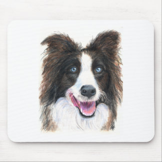 Happy Border Collie Mouse Pad