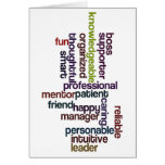 Happy Boss Boss's Day Colorful Word Art Greeting Card