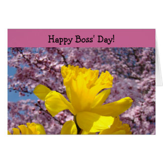 Happy Boss Day cards Bosses Thank You Daffodils