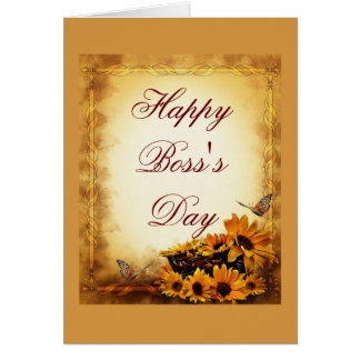 Happy Boss s Day for boss with sunflowers Cards