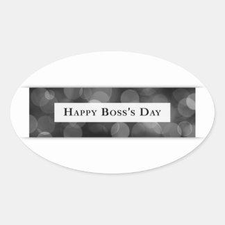 Happy Boss's Day (bokeh) Oval Sticker