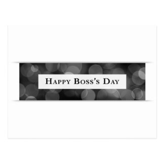 Happy Boss's Day (bokeh) Postcard
