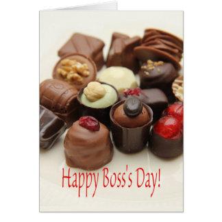 Happy Boss's Day Chocolates Card