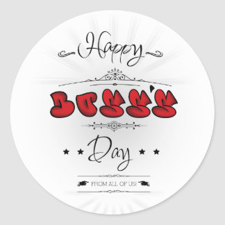Happy Boss's Day Classic Round Sticker