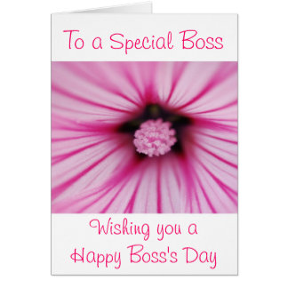 Happy Boss's Day for female boss with flower Card