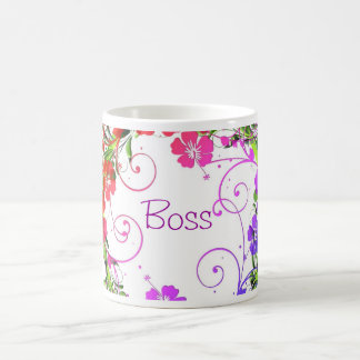 Happy Boss's Day for female boss with flowers Mugs