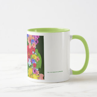 Happy Boss's Day for female boss with flowers Mug