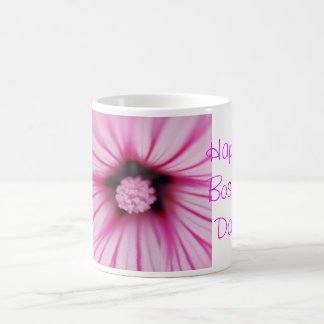 Happy Boss's Day for female boss with pink flower Coffee Mug