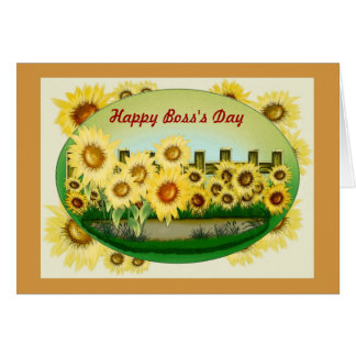 Happy Boss's Day for female boss with sunflowers Card