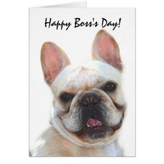 Happy Boss's Day French Bulldog greeting card