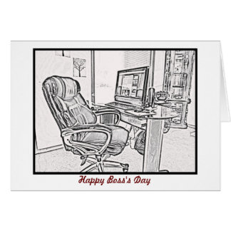 Happy Boss's Day from staff with custom text Card