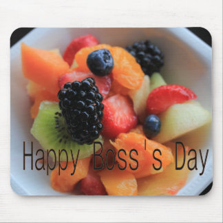 Happy Boss's Day Fruit Salad Mouse Pad