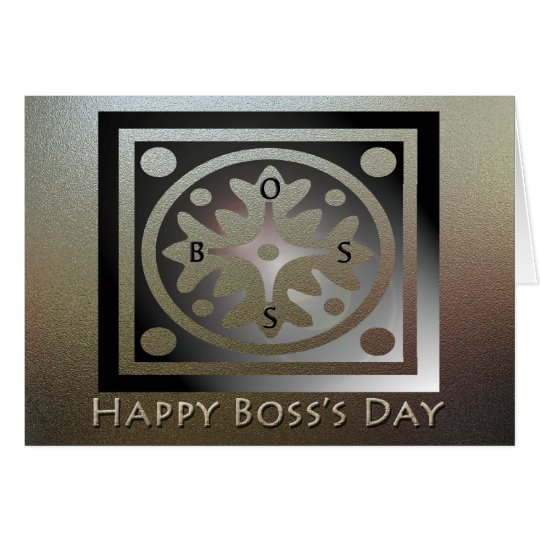 Happy Boss's Day Golden Classic Design Card