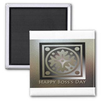 Happy Boss's Day Golden Classic Design Magnet