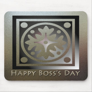 Happy Boss's Day Golden Classic Design Mouse Pad