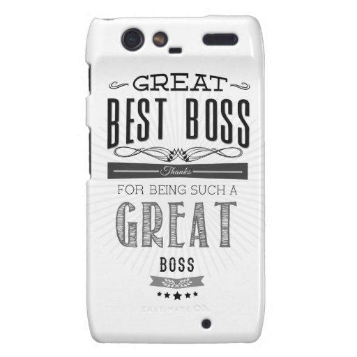 Happy Boss's Day Motorola Droid RAZR Carcasas