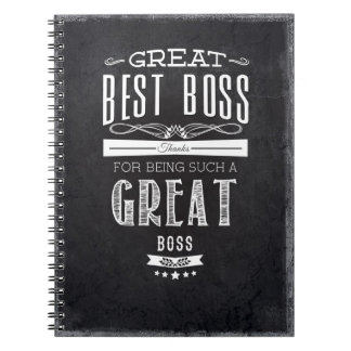 Happy Boss's Day Spiral Notebooks