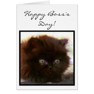 Happy Boss's Day Persian Kitten greeting card